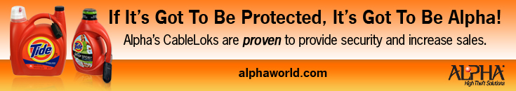 If It's Got To Be Protected, It's Got To Be Alpha. Alpha's CalbeLoks are proven to provide security and increase sales.